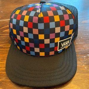 Vans checkerboard hat!💙❤️